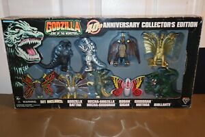 Godzilla King Of The Monsters Collector's Set 40th Anniversary 1995 Trendmasters