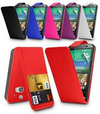 LEATHER FLIP SERIES CASE COVER & SCREEN PROTECTOR FOR HTC ONE M8