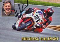 uralte AK, Autograph Motorradrennfahrer Michael Galinski