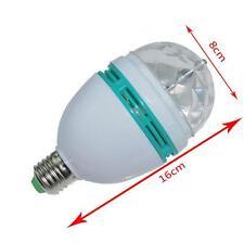 3W E27 Crystal Magic Ball Rotating Disco DJ RGB LED Stage Lamp Light Bulb Q