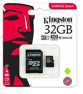 Kingston SDCS/ 32GB Canvas Select Scheda MicroSD 32 Gb classe 10 80Mb/s HdVideo