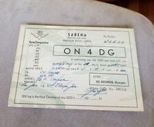 1957 QSL card Postcard Brussels Belgium Sabena Belgian Air Lines Amateur Radio