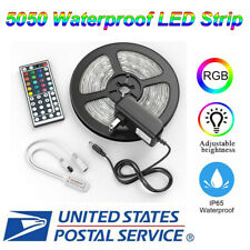 5m 16.4ft RGB 5050 Waterproof SMD LED Strip Light+44 Key(Include Battery)+Power