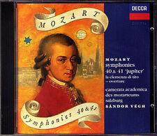 Sandor Vegh: Mozart Symphony No. 40 41 Jupiter Decca CD DECCA 1996 Végh sinfonie