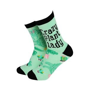 Womens Crazy Plant Lady Bamboo Novelty Gift Socks | Sock Therapy