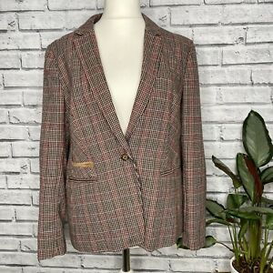 M&S Brown Tweed Blazer Size 16 Country Riding