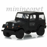 GREENLIGHT 27960 F BLACK BANDIT 1976 JEEP CJ-7 1/64 DIECAST MODEL CAR