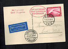 1931 Meiningen Germany Graf Zeppelin Real Picture Postcard Cover to Lorch Sieger