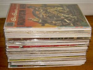 Lot of 50 gold WESTERN comics Gene Autry's CHAMPION #1 Roy Rogers LONE RANGER