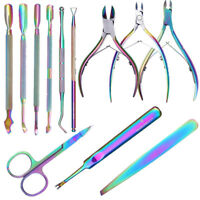 BORN PRETTY Chameleon Dead Skin Remover Cuticle Pusher Clippers Nippers Scissors