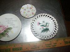 "American Greetings Lasting Treasures 4"" Porcelain Plate Plus a Japan plate"