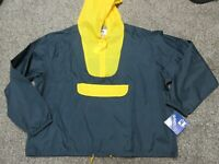 Vintage 80s 90s WINDLESS Front Pocket Windbreaker Jacket Michigan Colors Size XL