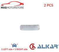 REAR VIEW MIRROR GLASS PAIR LHD ONLY ALKAR 6453977 2PCS G NEW OE REPLACEMENT