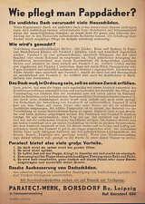 LEIPZIG-BORSDORF, Prospekt 1953, Paratect-Werk Papp-Dach-Pflege Ausbesserung