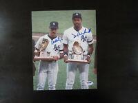 Don Mattingly Dave Winfield Autograph Signed 8 x 10 Photo PSA New York Yankees
