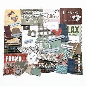 Travel Junk Journal Embellishments, Handmade Scrapbook Accessories, Bon Voyage