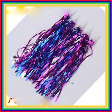 Ribbons Purple Kids Bicycle Pom Poms Bike Tassels Tricycle Handlebar Streamers