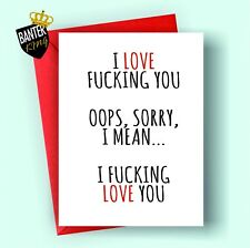 V16 ANNIVERSARY VALENTINES DAY CARD RUDE FUNNY HUSBAND BOYFRIEND WIFE GIRLFRIEND