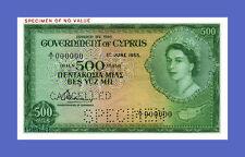 See description!!! Reproductions CYPRUS 500 Mils 1955s