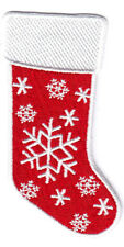 "CHRISTMAS STOCKING (3 1/4"") -  C&D VISIONARY IRON ON EMBROIDERED PATCH"