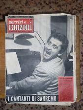 L322-TV SORRISI E CANZONI 12 FEBBRAIO  1958- IN COPERTINA DOMENICO MODUGNO