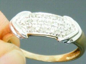 9ct Gold  0.20ct Diamond Hallmarked Ring size P