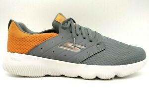 Skechers Go Run Gray Orange Mesh Lace Up Running Sneakers Shoes Men's 14