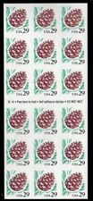 ALLY'S STAMPS Scott #2491a 29c Pine Cone Pane [18] MNH F/VF [BP-21a]