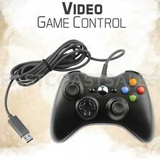 Black USB Video Game Pad Remote Controller for Xbox 360 System PC Windows