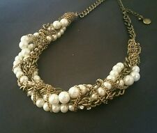 J Crew J. CREW Multi Mixed Strands Chains Pearl Crystals Chunky Necklace