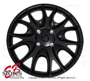 "Hubcaps Style#533 17"" Matte Black 4pcs Set 17 inch Rim Wheel Skin Cover Hub cap"