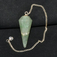 30-40 MM Natural Green Aventurine Healing Pendulum Dowsing Chakra Pendulum
