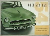 OPEL KAPITAN Car Sales Brochure 1954 GERMAN TEXT