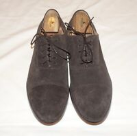 New Republic By Mark McNairy Dark Brown Suede Cap-Toe Dress Shoes Men's 11.5