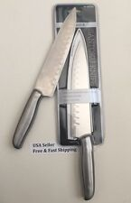 2 × Premier Santoku Knife With Cover-Stainless Blade- USA SELLER