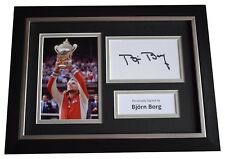 More details for bjorn borg signed a4 framed autograph photo display tennis sport  coa
