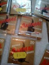 10 x packs , kamasan animal spade barbed  fishing hooks size 20. 10 packs .