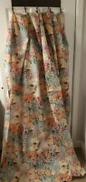 VTG SPRINGS BATH FASHIONS Shower curtain MUTED watercolors floral design USA