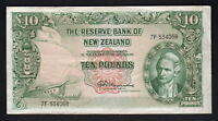 NEW ZEALAND P-161c.  (1967) 10 Pounds - Fleming.  No Thread..  Prefix 7F.. gVF