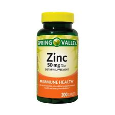 Spring Valley Zinc 50mg Capsule - 200 Count Ex date:12/22