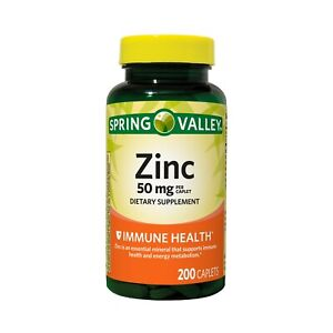 Same/next day shipped! Spring Valley Zinc 50mg Capsule - 200 Count Ex date:12/22