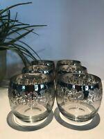 Vintage (6) Dorothy Thorpe Silver Fade Wine Glasses, Mad Men Glasses, A-98