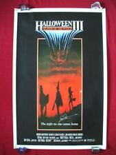 HALLOWEEN 3 III 1982 ORIGINAL MOVIE POSTER SEASON OF THE WITCH TOM ATKINS SIGNED