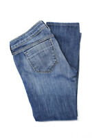 Wildfox Womens Medium Wash Ripped Skinny Biker Jeans Blue Cotton Size 27