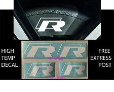 VW R BRAKE CALIPER DECAL HIGH TEMP (6cm & 5cm) White Sticker Set x 4