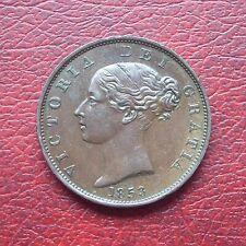 Victoria 1853 copper halfpenny