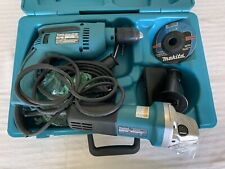 Makita Electric Hammer Drill And Angle Grinder Power Tool Set With Accessories