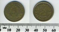 Finland 1947 S - 5 Markkaa Brass Coin - Shielded arms within wreath