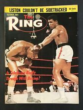 The Ring Boxing Magazine October 1964   Cassius Clay / Sonny Listion