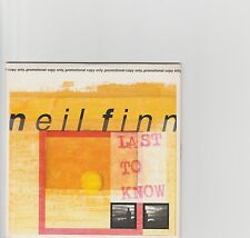 Neil Finn-Last to Know UK 1 track promo cd 2001